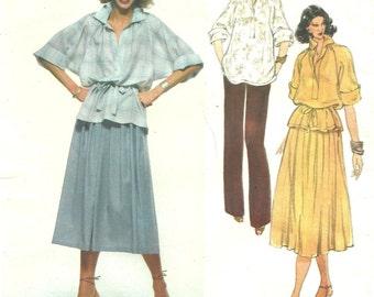 vogue 1902 blouse skirt pattern sz 14 Vintage Vogue French Boutique