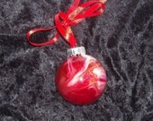 Hand painted glass ornament S24