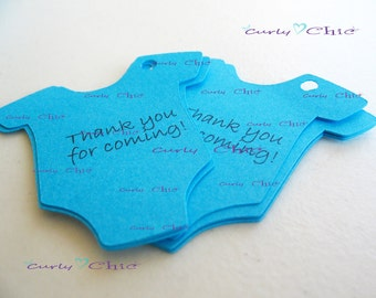 """175 Personalized Baby Bodysuit Tag Size 2"""" In Non-textured or Textured Cardstock paper"""