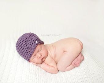 Crochet baby hat baby girl hat newborn hat vintage style newborn crochet hat baby crochet hats photography prop hat infant crochet hat