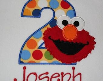 Elmo Birthday Shirt, Personalized Elmo Shirt, Elmo Boy Shirt, Sesame Street Shirt, Sesame Street Birthday, Personalized Elmo, Custom Elmo