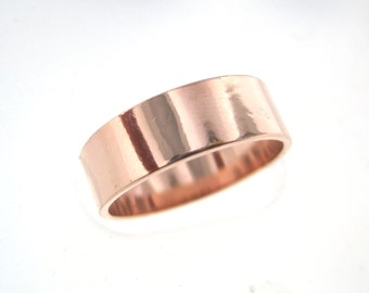 1 Pc - Copper Band Ring - For Your Hand Stamping Jewelry Supplies- High Quality, High Polish Band