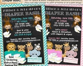 Interracial baby shower invitations