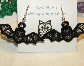 Adorable Bat Earrings - Custom Color