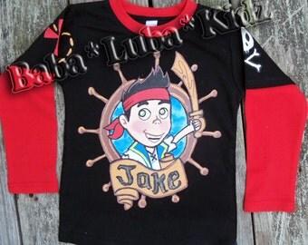 J-ke  shirt boys Boutique custom painted 12 18 24 2 3 4 5 6 8 10 12