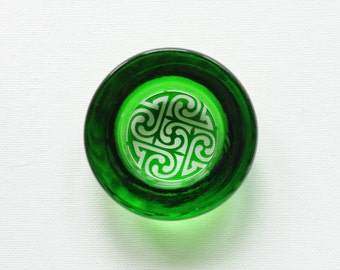 Spinning Dish - Celtic Swirl in Emerald