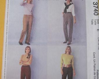 McCalls 3740 Palmer Pletsch Perfect Pants Pattern Size 14-16-18