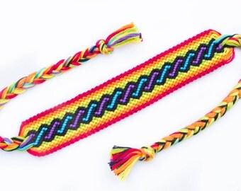 Rainbow Twist Friendship Bracelet