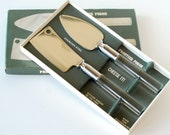 Vintage Cheese Knives Lucite Handles Mid Century Modern Style New In Box