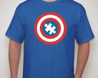 Captain Autism Awareness T-Shirt for Parent or Teacher