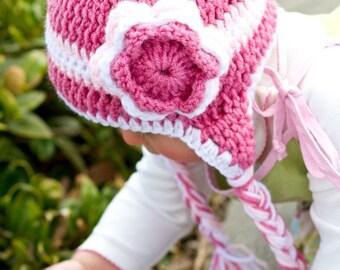 Pattern: Triple Flower Crochet Hat
