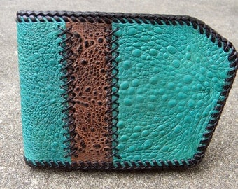 Cane toad leather snap bifold