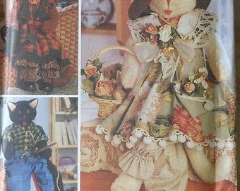 Cat Doll and Clothes Sewing Pattern UNCUT Simplicity 8242