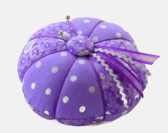 Pincushion - Purple Lavender Pin Cushion - Sewing Accessory - Needle Cushion - Needlecrafting