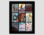 best sights of chicago illinois tourist attractions bean picasso theatre buckingham el train clock hancock flamingo photo-graphic art print