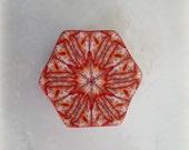 Polymer Clay Kaleidoscope Cane Red White Yellow Orange No. 192