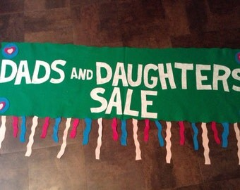 Scout Banner- Dads and Daughters Sale