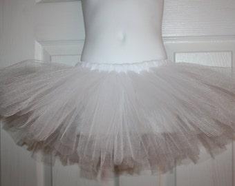Birthday white tutu 12m 18m 2t 3t 4t 5t Party costume