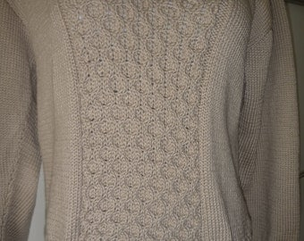 Beige cotton blend sweater no. 236