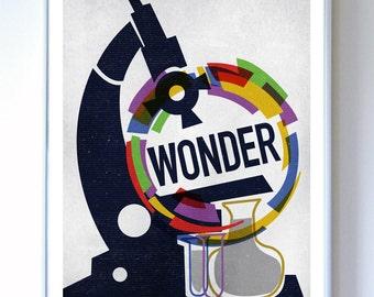 11 x 14 - Wonder Science Poster Art Print - Wall Art - Stellar Science Series™ -  Science Poster Print