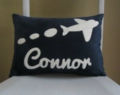 A Plush Personalized Airplane Pillow