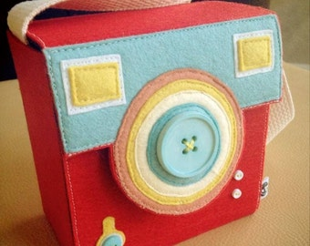 Made by order. Custom case for Fujifilm Instax mini--Vintage/ WITH STRAP