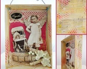 Together Mixed Media Hanging Assemblage Shadowbox