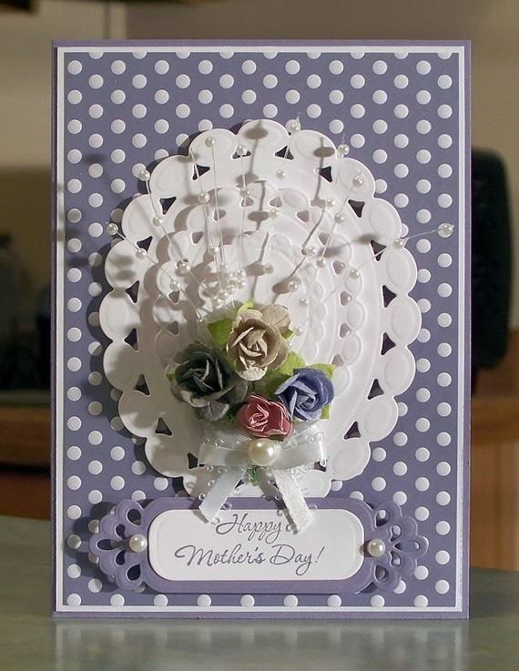 Stampin Up Mother's Day Card - Rose Bouquet