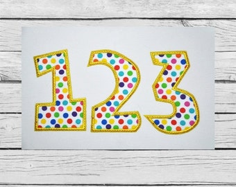 Applique Numbers 2