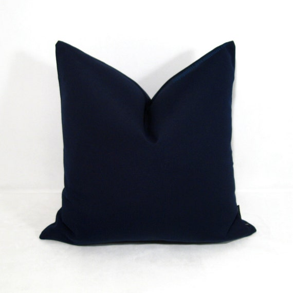 Navy Blue Sunbrella Pillow Cover Modern Outdoor by Mazizmuse
