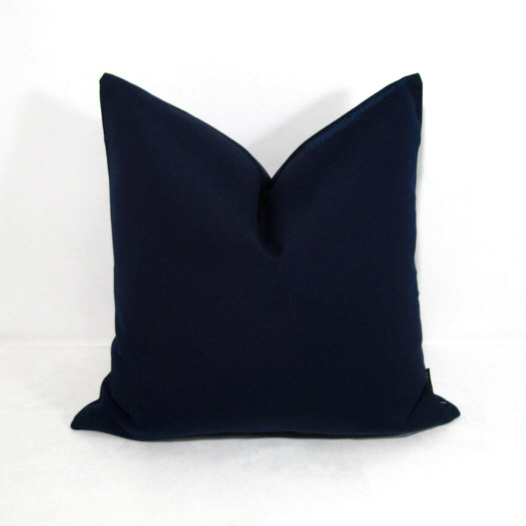 Modern Navy Pillows : Navy Blue Sunbrella Pillow Cover Modern Outdoor Pillow Cover