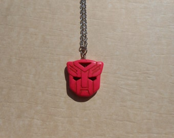 Transformers Autobot Pink Howlite Necklace
