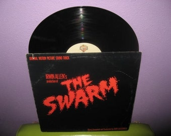 FINAL SALE Vinyl Record Album The Swarm Original Soundtrack LP 1978 Irwin Allen Jerry Goldsmith