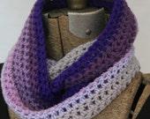 Crocheted Shaded Purple Cowl