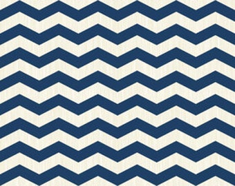 Navy Chevron Fabric Trendsetter Riley Blake Chevron C3992 Navy