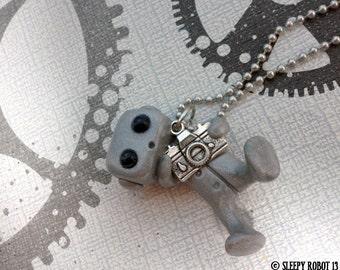 Shutter Bug Robot Camera Necklace