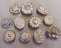 11 Drawer Pulls Knobs Collection More Colors Available Cameo Rose Handmade Vintage