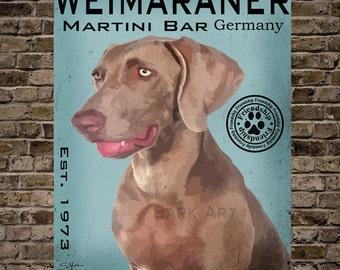 Weimaraner Martini Bar 2