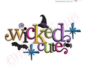 Halloween Wicked Cute - Instant Download -Digital Machine Embroidery Design
