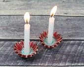 Shabbat candlestick Ceramic flowers Candle holders Holiday decor House warming gift Israel gift