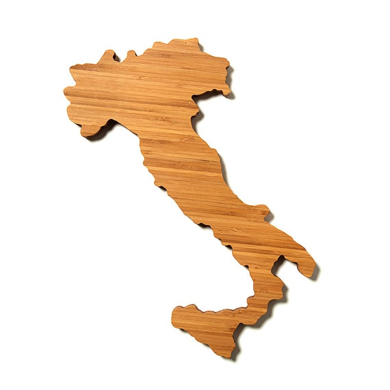 Personalized Cutting Board Gourmet Holiday Gift Italy Shaped Cutting Board In Bamboo Customized Cutting Board