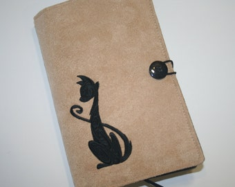 Cat  Embroidered Book Cover