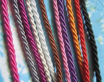 New come-- 11pcs 16-18 inch 3mm assorted braided silk necklace cords with very strong finish