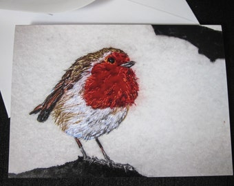 Robin design greeting card
