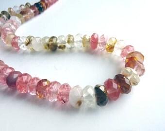 Volcano Cherry Glass Rondelle beads - 10 beads