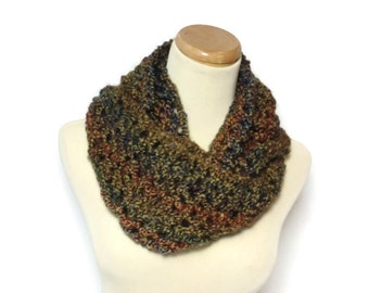Prairie Infinity Scarf, Knit Infinity Scarf, Knit Cowl, Gift For Her, Circle Scarf, Womens Scarf, Fashion Accessory, Knit Scarf, Fiber Art