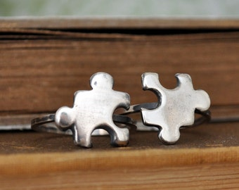 SILVER PUZZLE RING,  hand made sterling silver puzzle ring, antiqued silver made to order
