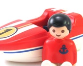 Vintage Playmobil Boy with Boat #57