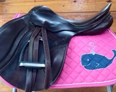 Hand painted saddle pad - whale themed  CYBER MONDAY SALE