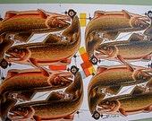 Original 1950s Factory Die Cut Press Sheets - Trout